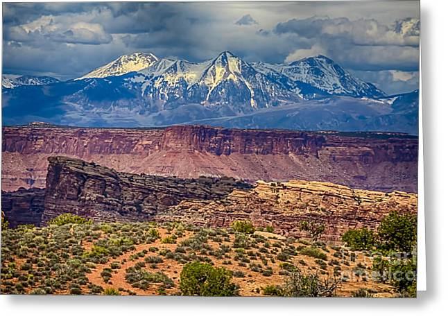 Scotts Scapes Greeting Cards - Desert Cliffs n Mountains Greeting Card by Scotts Scapes