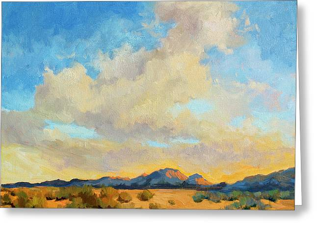 Impressionism Greeting Cards - Desert Clouds Greeting Card by Diane McClary