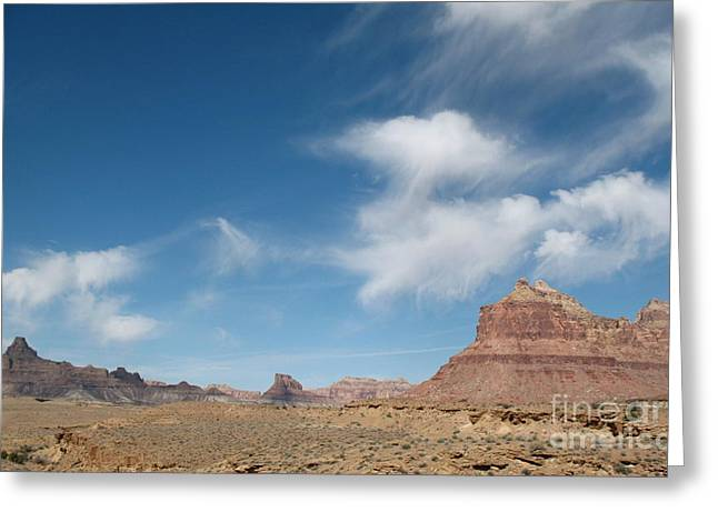 Southern Utah Pyrography Greeting Cards - Desert Clouds Greeting Card by Kimberly Cohne