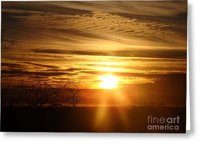 Sunset Framed Prints Mixed Media Greeting Cards - Desert Delight Greeting Card by Beverly Guilliams