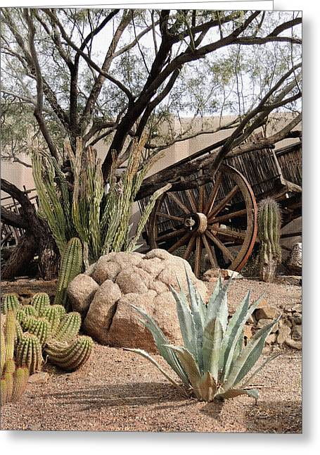 Cave Creek Western Greeting Cards - Desert Designs Greeting Card by Gordon Beck