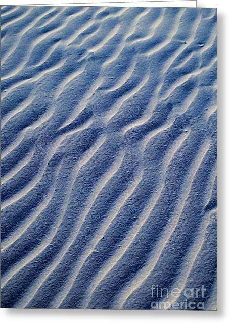 Sand Patterns Greeting Cards - Desert Evening Designs Greeting Card by Brian Raggatt