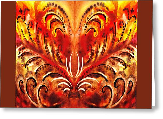 Abstract Movement Greeting Cards - Desert Flower Abstract  Greeting Card by Irina Sztukowski