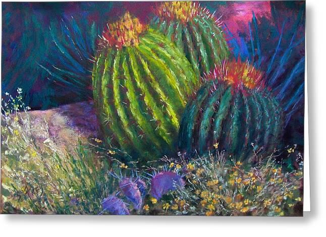 Desert Garden Greeting Card by Sharon Frey