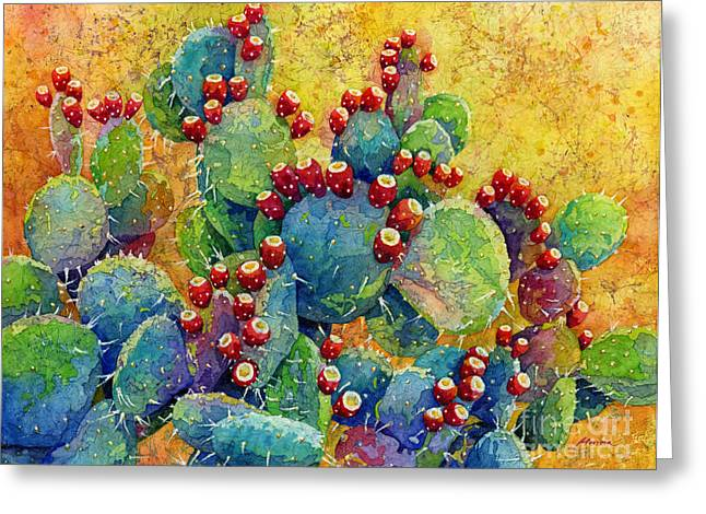 Artistic Paintings Greeting Cards - Desert Gems Greeting Card by Hailey E Herrera