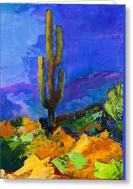 Old Paintings Greeting Cards - Desert Giant Greeting Card by Elise Palmigiani
