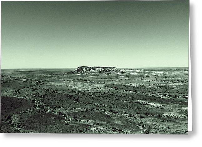 Desert Pyrography Greeting Cards - Desert Greeting Card by Girish J