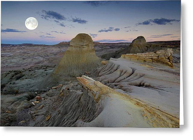 Petrified Greeting Cards - Desert Glow Greeting Card by Christian Heeb