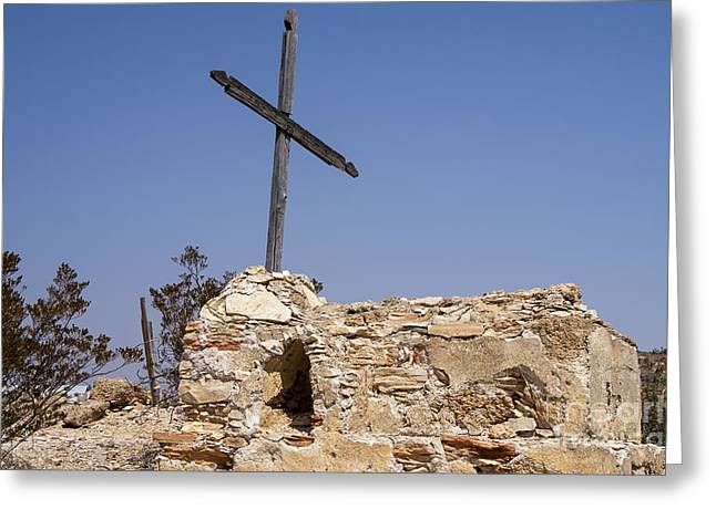 Terlingua Texas Greeting Cards - Desert Gravesites  Greeting Card by Bob Phillips