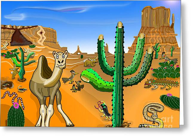 Desert Hands Greeting Card by Paul Fields