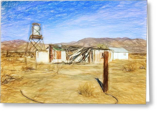 Yermo Greeting Cards - Desert House Greeting Card by Lewis Mann
