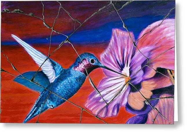 Desert Hummingbird - Study No. 1 Greeting Card by Steve Bogdanoff