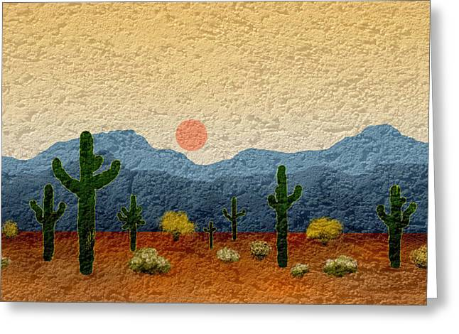 Cave Creek Western Greeting Cards - Desert Impressions Greeting Card by Gordon Beck