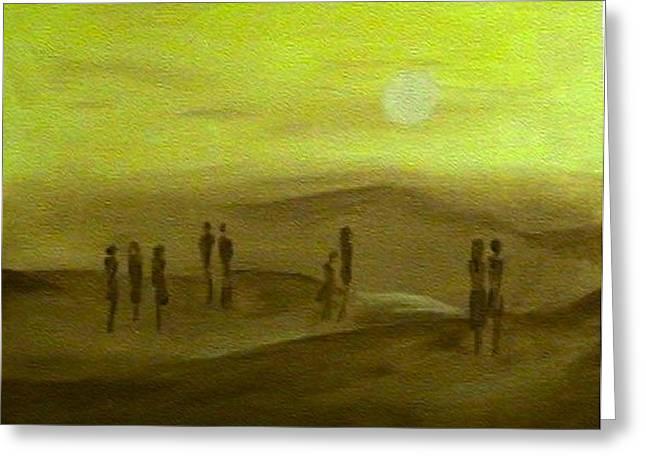 Desert Jaune Greeting Card by Mirko Gallery