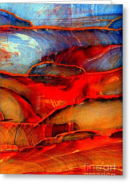 Desert Landscape Abstract Greeting Card by Callan Percy