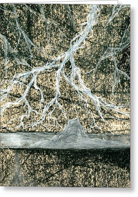 Lightning Pastels Greeting Cards - Desert Lightning Greeting Card by Matthew Howard