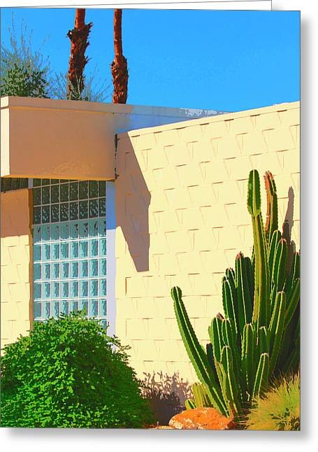 Southern Ca Greeting Cards - DESERT MODERN 7 Lakes Palm Springs Greeting Card by William Dey
