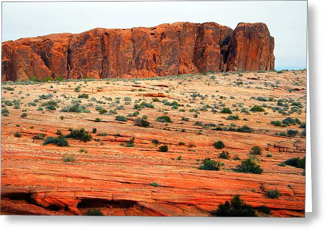 Monolith Greeting Cards - Desert Monolith Greeting Card by Frank Wilson