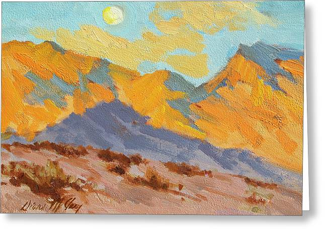 Hiking Paintings Greeting Cards - Desert Morning La Quinta Cove Greeting Card by Diane McClary