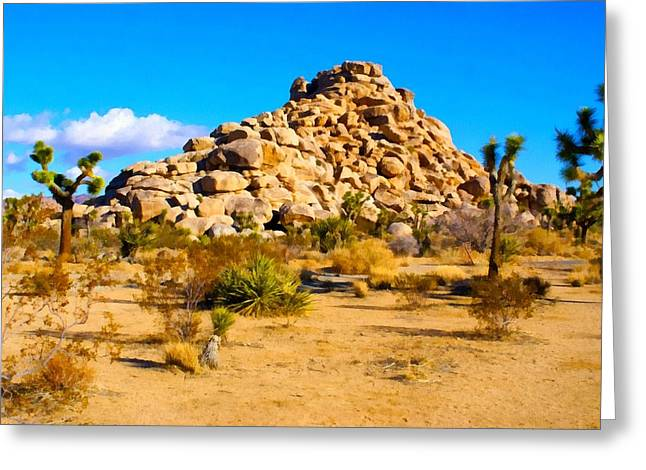 Mound Greeting Cards - Desert Mound Watercolor Greeting Card by Barbara Snyder