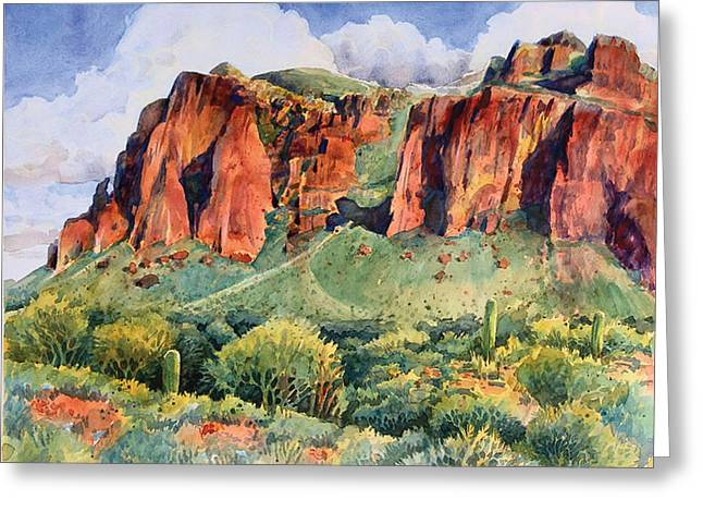 Desert Mountain Highlands Greeting Card by Kent Looft