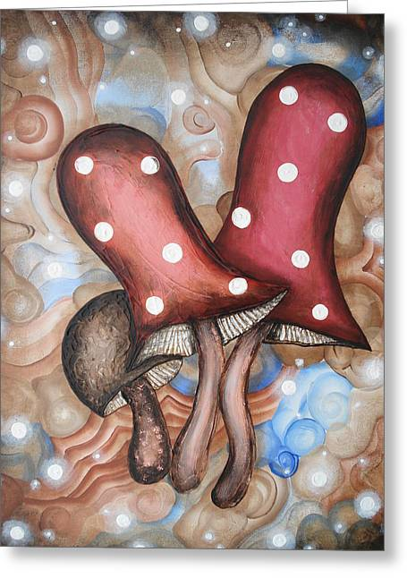 Outerspace Greeting Cards - Desert Mushrooms Greeting Card by Krystyna Spink