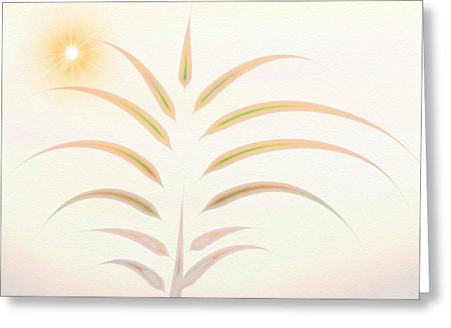 Manley Greeting Cards - Desert Palm - Digital Abstract Greeting Card by Gina Lee Manley