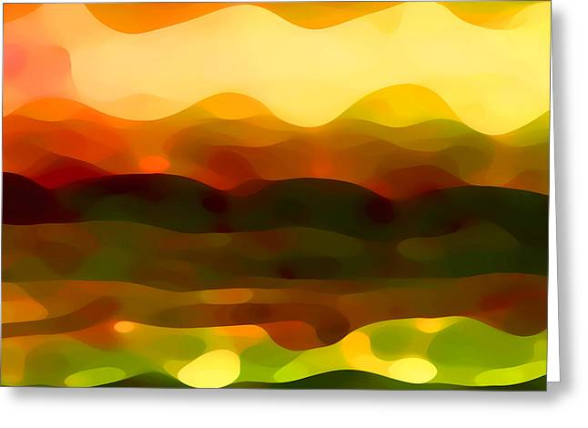 Abstract Art Greeting Cards - Desert Pattern 2 Greeting Card by Amy Vangsgard