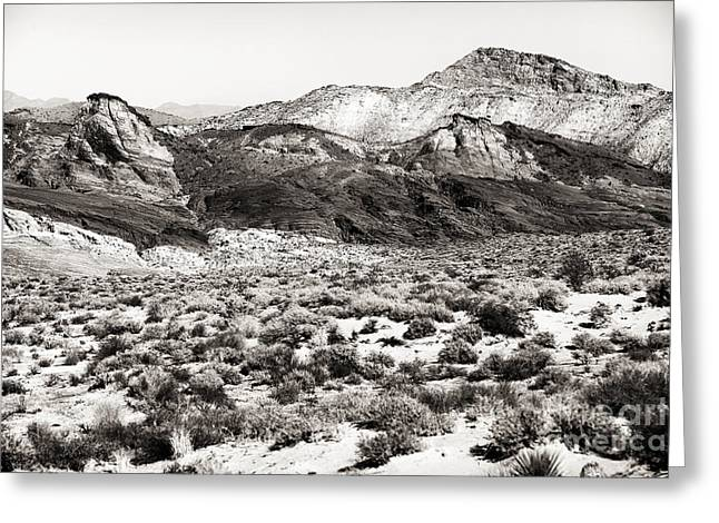 Brown Toned Art Greeting Cards - Desert Peaks Greeting Card by John Rizzuto