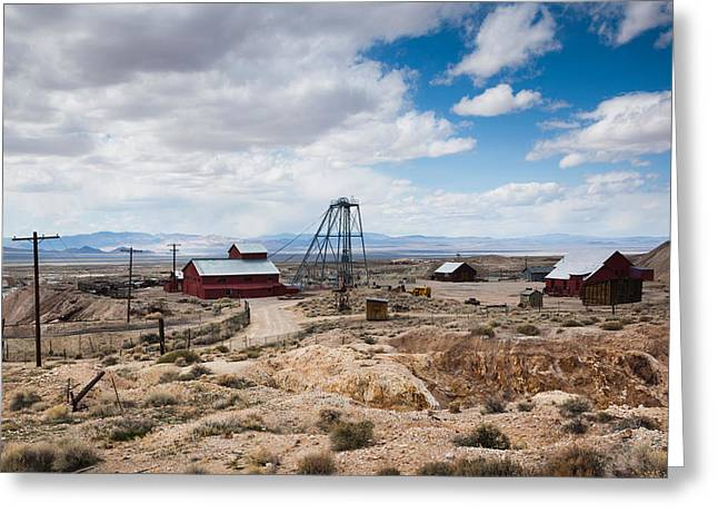 Desert Photography Greeting Cards - Desert Queen Hoist House And Mine Greeting Card by Panoramic Images