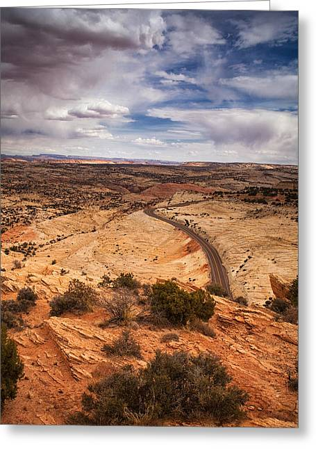 Desert Road Greeting Card by Andrew Soundarajan