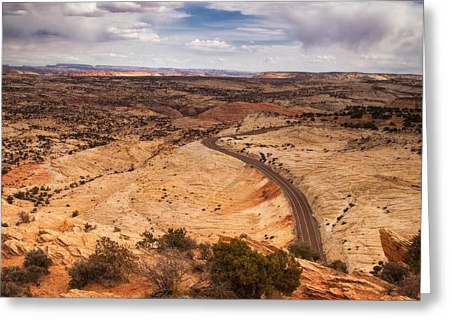 Desert Road Greeting Card by Andrew Soundarajan