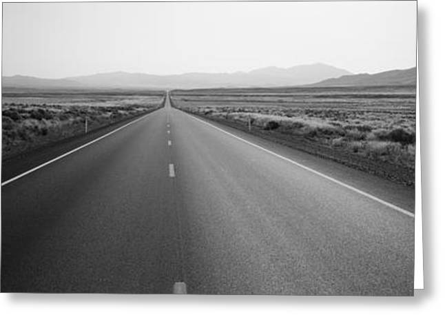 Convergence Greeting Cards - Desert Road, Nevada, Usa Greeting Card by Panoramic Images