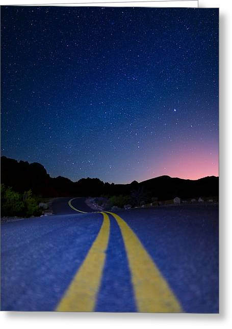 Star Valley Greeting Cards - Desert Road Greeting Card by Rick Berk