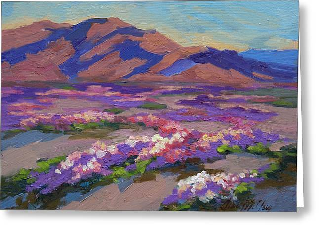 Verbena Greeting Cards - Desert Spring Greeting Card by Diane McClary