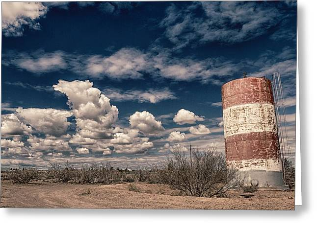 Dusty Blue Greeting Cards - Desert Spring Greeting Card by Nathan Larson