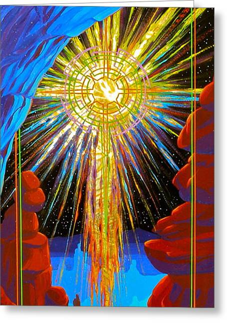 Dream Scape Greeting Cards - Desert Star  Greeting Card by Alan Johnson