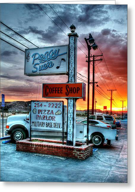 Peggy Sues Diner Greeting Cards - Desert Stop Greeting Card by Steve Parr