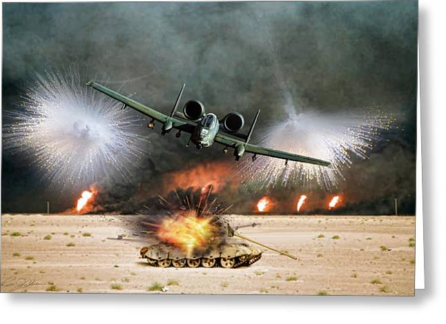 Desert Storm Fury Greeting Card by Peter Chilelli