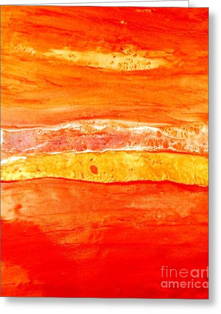 Tangerine Greeting Cards - Desert Sun Greeting Card by Dina Worzel