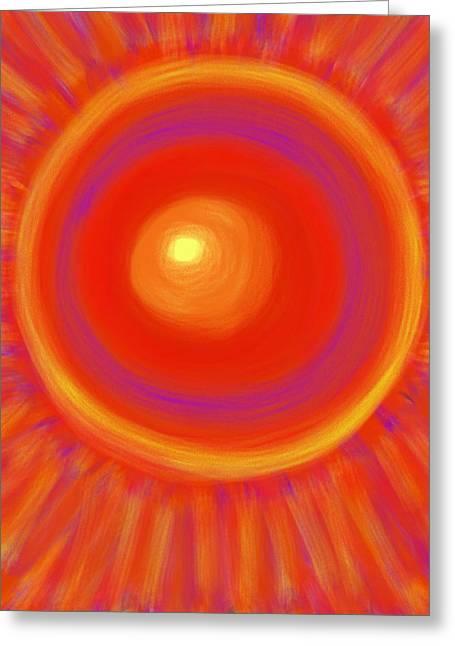 Desert Sunburst Greeting Card by Daina White