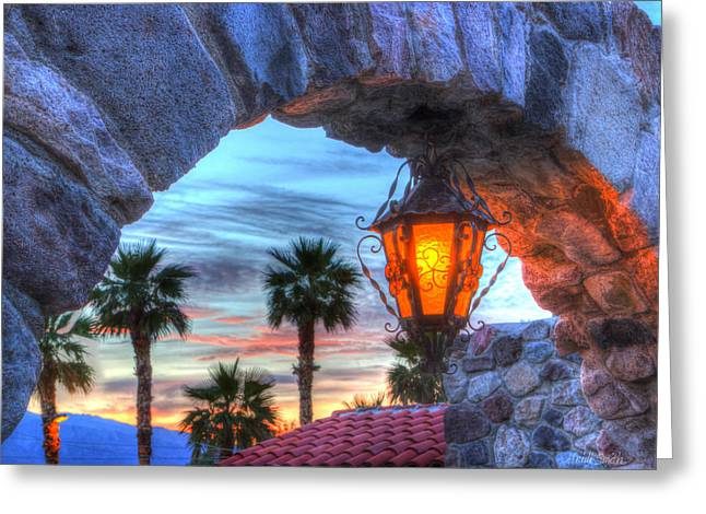 Desert Sunset View Greeting Card by Heidi Smith