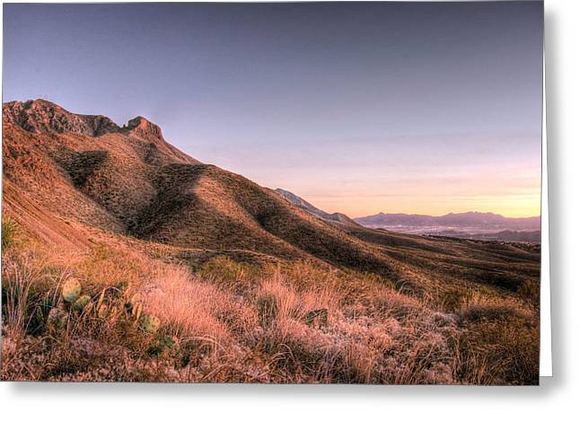 West Tx Greeting Cards - Desert Temple Greeting Card by JC Findley
