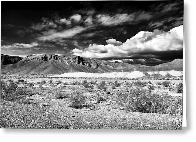 Desert View Greeting Cards - Desert View at Death Valley Greeting Card by John Rizzuto