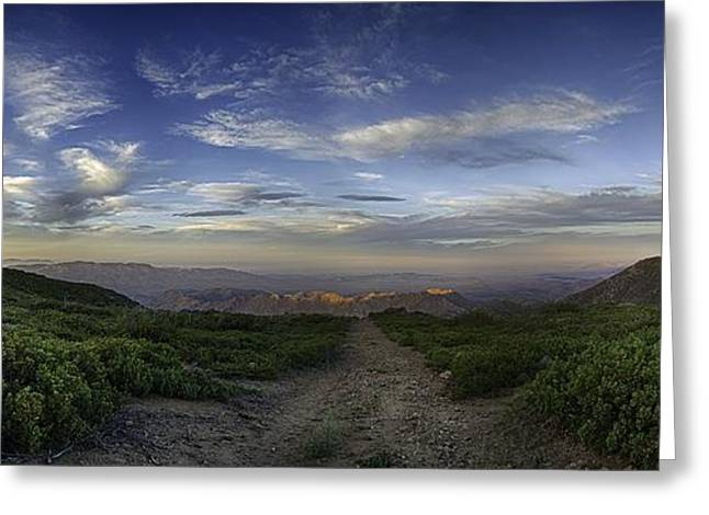 Super Stars Greeting Cards - Desert View Greeting Card by Christopher Payne