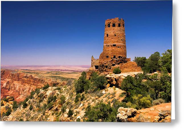 Desert View Greeting Cards - Desert View Watchtower Greeting Card by Christopher Arndt
