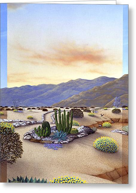Rocks Greeting Cards - Desert Vista #1 Greeting Card by Snake Jagger