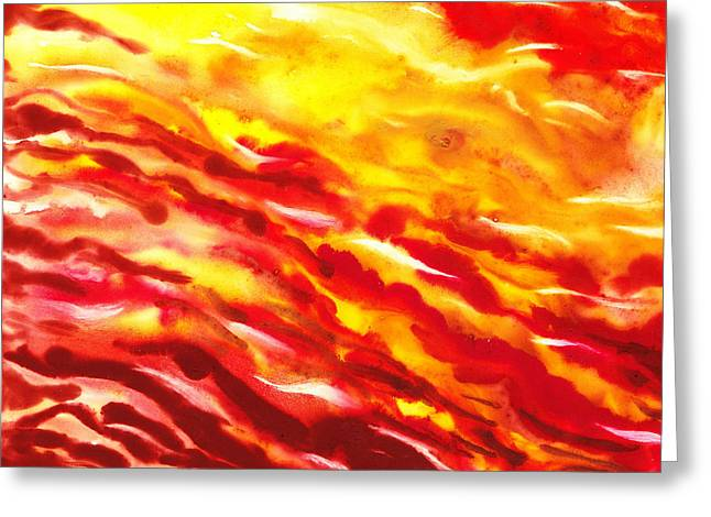 Desert Wind Abstract I Greeting Card by Irina Sztukowski