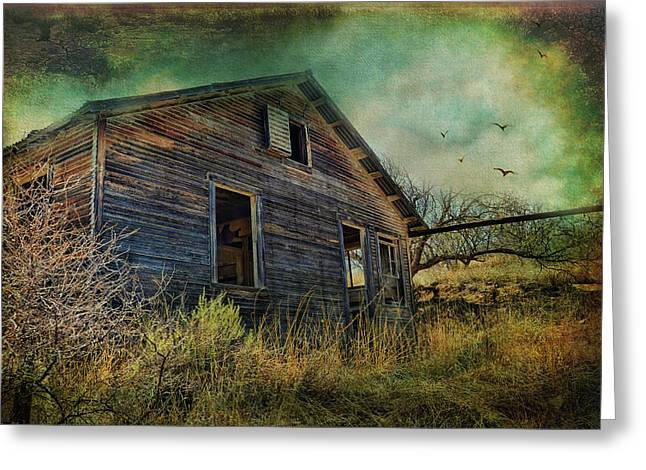 Run Down Digital Art Greeting Cards - Deserted Greeting Card by Barbara Manis