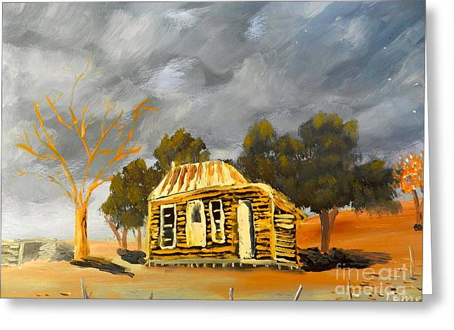 Deserted Castlemain Farmhouse Greeting Card by Pamela  Meredith